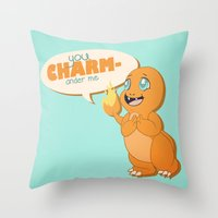 You CHARMander Me Throw Pillow