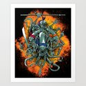 Bay's Alien turtles! Art Print