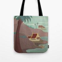Ember Island Travel Post… Tote Bag