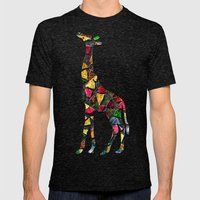 Animal Mosaic - The Gira… Mens Fitted Tee Tri-Black SMALL