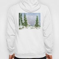 Snow and Evergreens Hoody