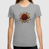 Circular Brown Abstract … Womens Fitted Tee Athletic Grey SMALL