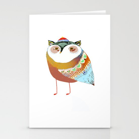 The Sweet Owl Stationery Card