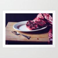 pomegranate, 2 Art Print