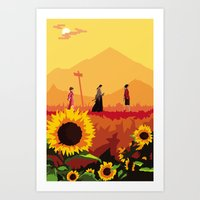 Journey To The Sunflower… Art Print