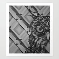 Gray Owl Art Print