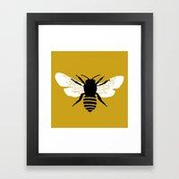 Bee world Framed Art Print