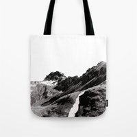 The road below the mountains Tote Bag