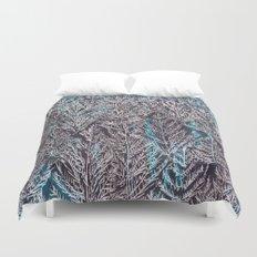 Snow Pines(Blue) Duvet Cover