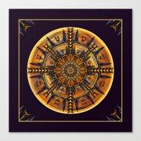 Hieroglyph Moth Mandala … Canvas Print