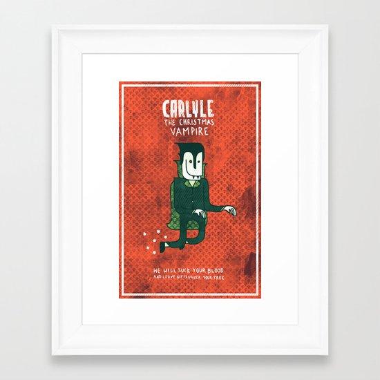 The Christmas Vampire Framed Art Print