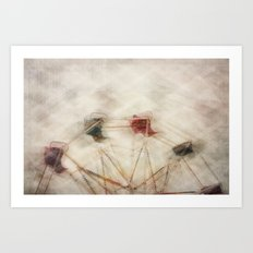 Round n round we go Art Print