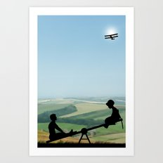 Childhood Dreams, The Seesaw Art Print