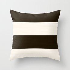 Brush Stroke Stripes: Chocolate Cream Cookie Throw Pillow