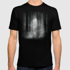 Dark Black SMALL Mens Fitted Tee