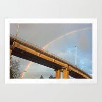 Rainbow Bridge Art Print