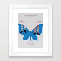 Papillon - Alternative Movie Poster Framed Art Print