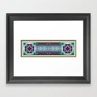 Lavender and Teal Framed Art Print