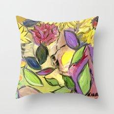 Flower Swirls Throw Pillow