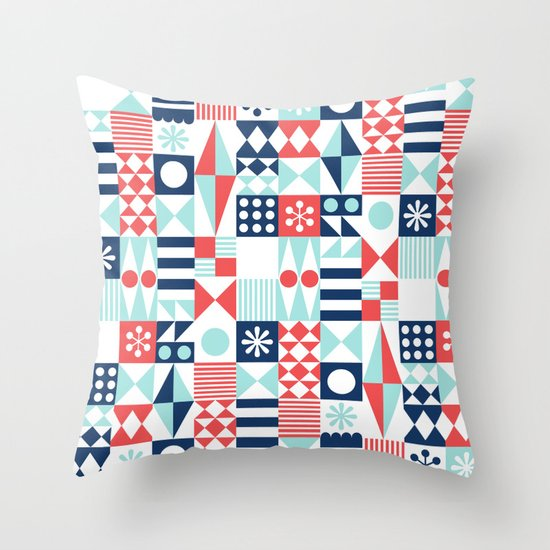 Tradewinds navy Throw Pillow