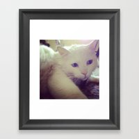 talk to the left because I am looking to my right Framed Art Print