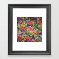 TROPICAL LOVE Framed Art Print