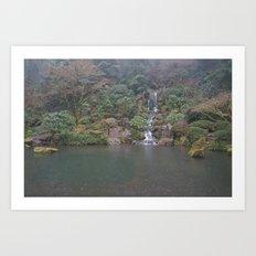 Zen Waterfall in Portland Art Print