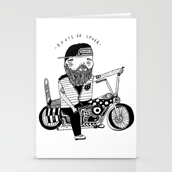 Route 66 Lover Stationery Card