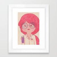 Sciency Bubblegum! Framed Art Print