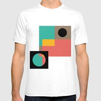 Geometric Crazy 1 Mens Fitted Tee White SMALL