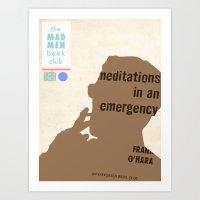 Mad Men Book Club-Meditations Art Print