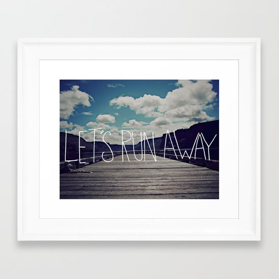 Let's Run Away: Detroit Lake, Oregon Framed Art Print