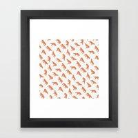 wild wolves pattern Framed Art Print