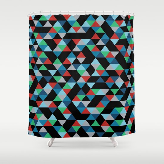 Triangles 4B Shower Curtain