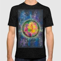 Your planet Mens Fitted Tee Tri-Black SMALL
