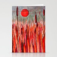 Sunset Over The Cattail … Stationery Cards