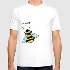 Honey I'm Home White Mens Fitted Tee SMALL