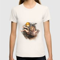 Empty Nest Womens Fitted Tee Natural SMALL