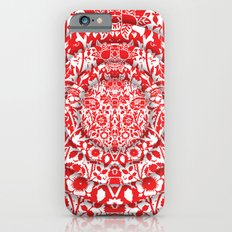 Illusionary Daisy (Red) Slim Case iPhone 6s