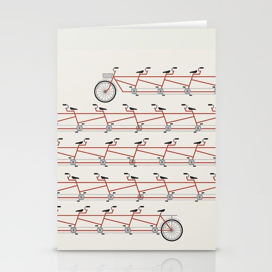Stretched Out Tandem Stationery Card