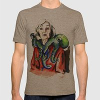 Octopus Mens Fitted Tee Tri-Coffee SMALL