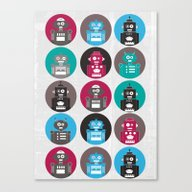 Canvas Print featuring Robots by Kakel