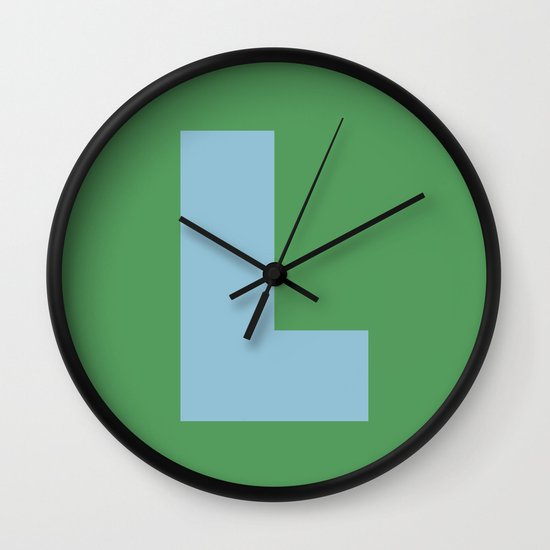 Light Blue L Wall Clock