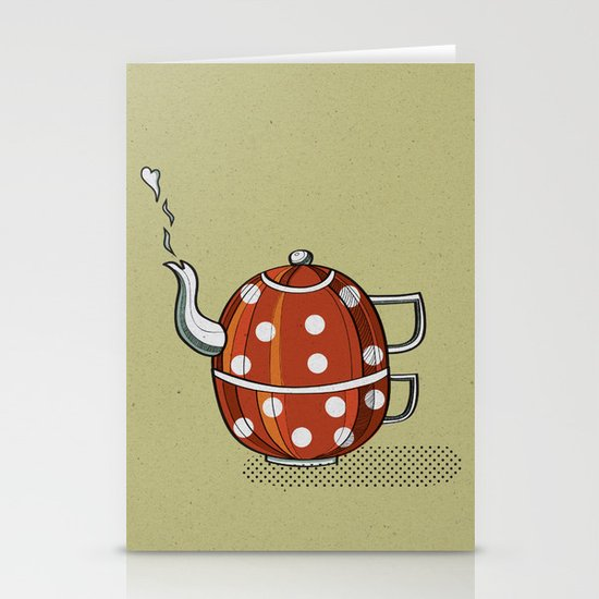 Tea party  Stationery Card