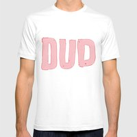 dud Mens Fitted Tee White SMALL