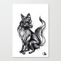 Foxy Two Canvas Print