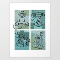 Phone Call Art Print