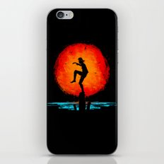 Minimalist Karate Kid Tribute Painting iPhone & iPod Skin