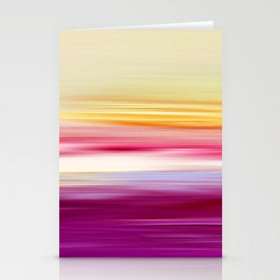abstract sundown Stationery Card