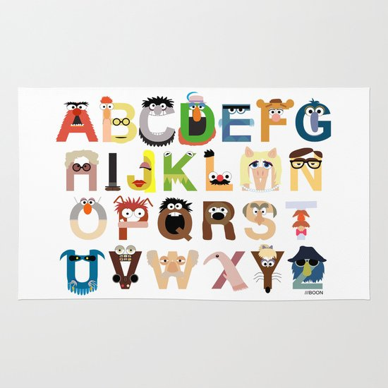 Muppet Alphabet Area & Throw Rug